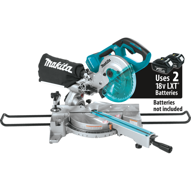 "18V X2 (36V) LXT® Lithium‑Ion Brushless Cordless 7‑1/2"" Dual Slide Compound Miter Saw, Tool Only"