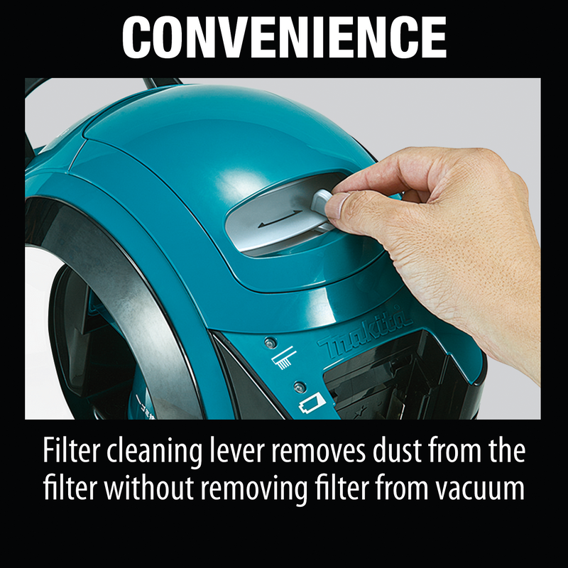 18V LXT® Lithium-Ion Brushless Cordless Cyclonic Canister HEPA Filter Vacuum (Tool Only)