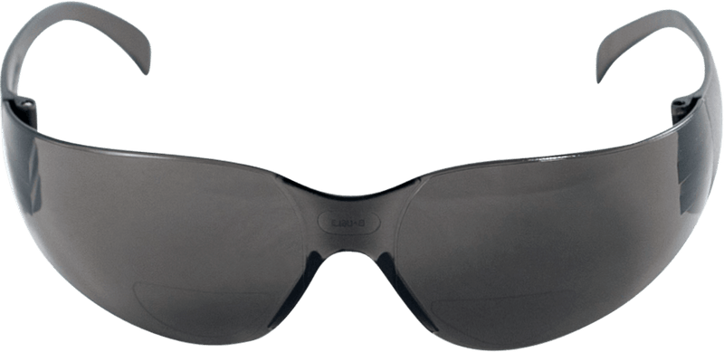 Smoke 1.0 Diopter Reader Style Lens, Frosted Black Frame Safety Glasses - BH13310 (Pack of 12)