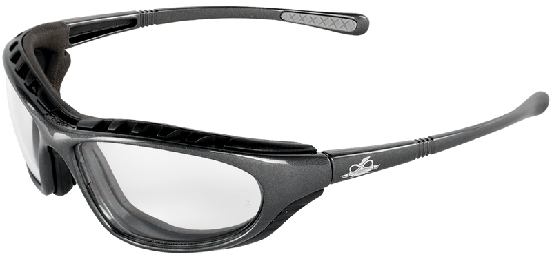 Bullhead BH1391AF Clear Anti-Fog Lens, Shiny Pearl Gray Frame Safety Glasses  (Case of 144)