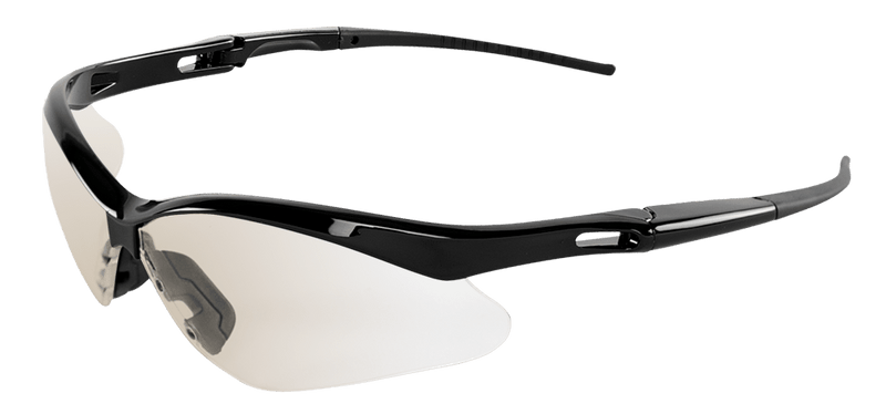 Indoor/Outdoor Lens, Shiny Black Frame Safety Glasses - BH2256 (Case of 144)