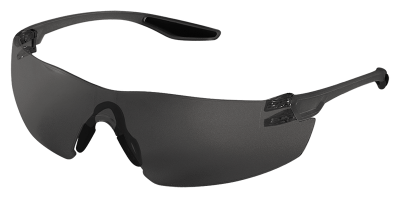 Bullhead BH2833 Smoke Lens, Frosted Black Frame Safety Glasses (Pack of 12/Case)