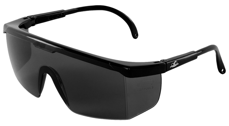 Bullhead BH353 Kaku® Smoke Lens, Shiny Black Frame Safety Glasses (Case of 144)