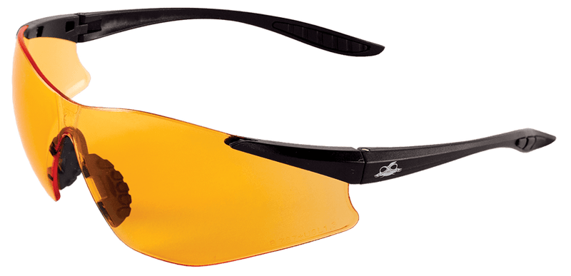Bullhead BH7615AF Orange Anti-Fog Lens, Matte Black Frame Safety Glasses (144 Each / Case)