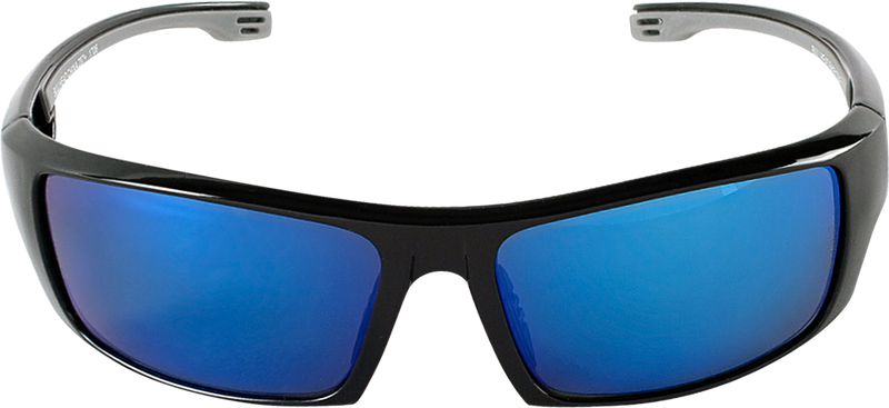Bullhead BH95129PFT Blue Mirror Performance Fog Technology Polarized Lens, Shiny Black Frame Safety Glasses  (Pack of 12)