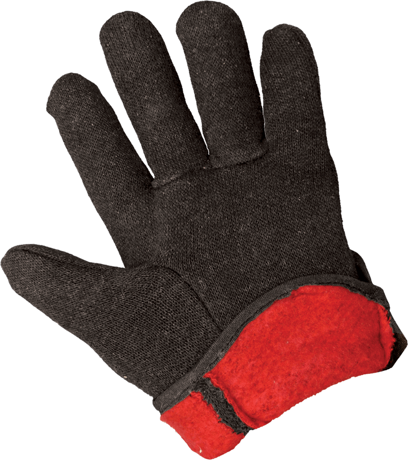 Global Glove C10BJR-LT Red Fleece-Lined Jersey Chore Gloves - Large (Case of 144 Pairs)