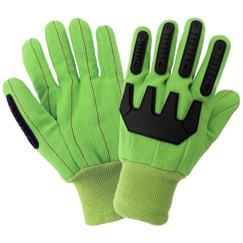 Global Glove C18GRCPB Cotton, Inspectors, Lisle, Canvas, Corded Gloves (Case of 72 Pairs)