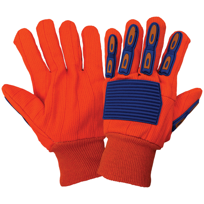 Global Glove C180C Cotton, Inspectors, Lisle, Canvas, Corded Gloves (12 Dozen Pair / Case)