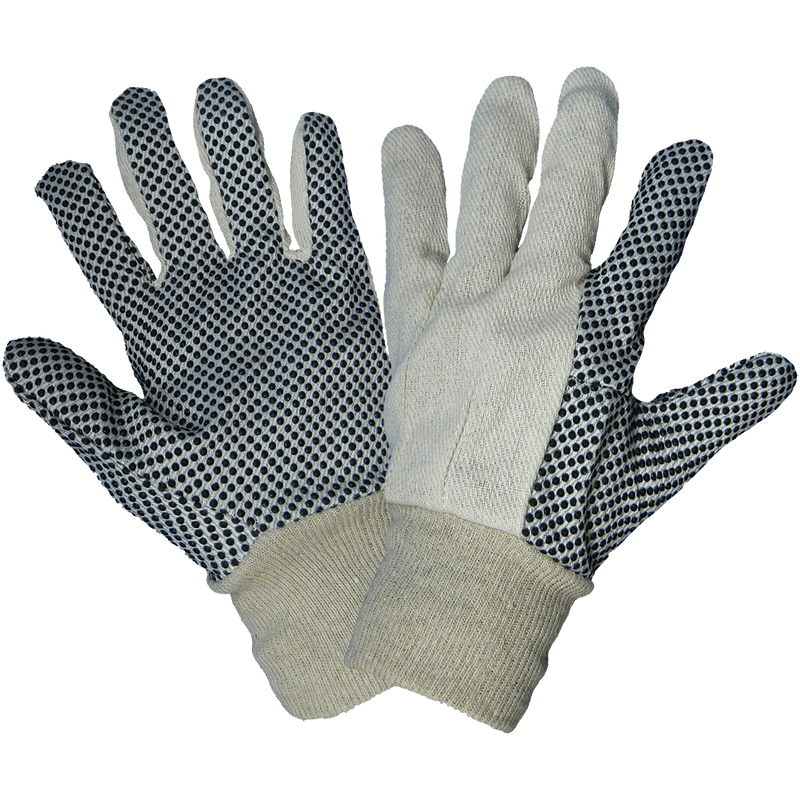 Global Glove C80D1 Cotton Canvas PVC Dotted Gloves  (Pack of 12)