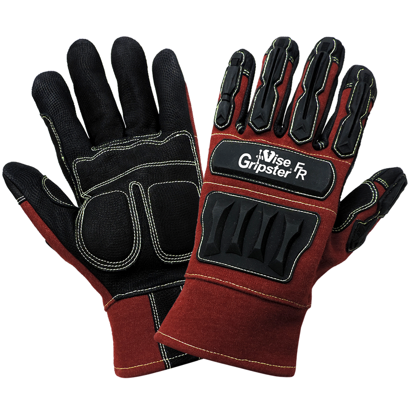 Global Glove CIA5300 Vise Gripster FR - Flame and Impact Resistant Arc Flash Work Gloves (Case of 72 Pairs)