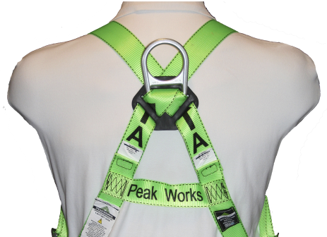 PeakWorks V8002200 Contractor Harness-1D-Class A-Pass-Thru Chest Buckle - Grommeted Leg Straps (Case Of 5 Pcs)