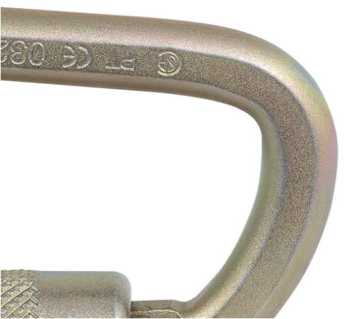 "Peakworks V860121 Lightweight, Easy to Use, Zinc Plated Steel, 3/4"" Double Locking Carabiner, 2""x 2""x1""(Case Of 50 Pcs)"