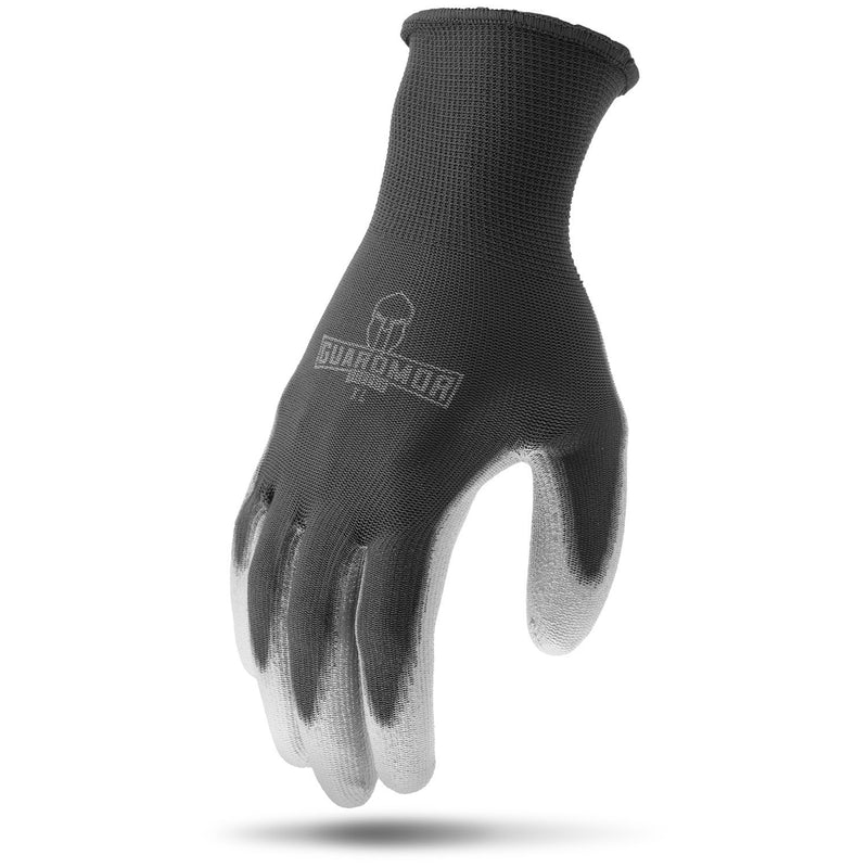 Lift Safety G15PSP-KM PU COATED PALM Black 13g Polyester Knit Glove with Smooth PU Palm(Cases of 9 Packs)