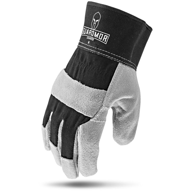 Lift Safety G15SLD-KM SPLIT LEATHER Glove with Black Dorsal - (Cases of 4 Packs)
