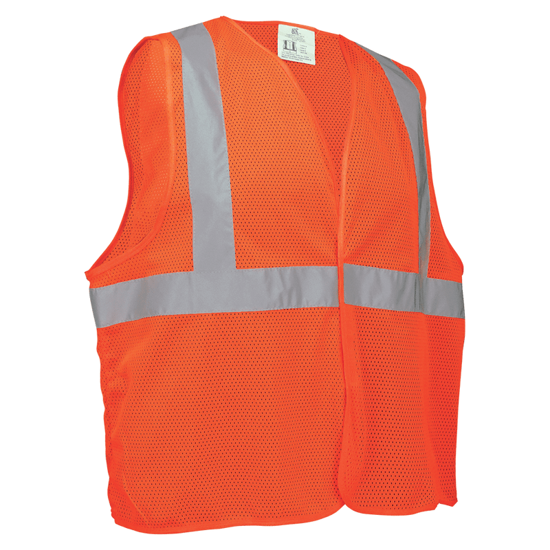 Global Glove GLO-006V HV Lightweight Orange Mesh Polyester Vest (Case of 50)