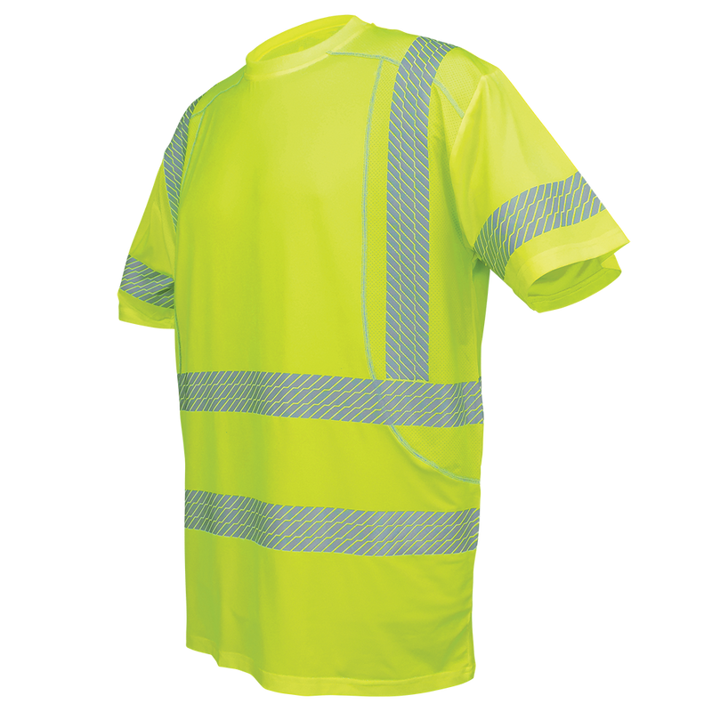 Global Glove GLO-205 High-Visibility High Performance Stretch Short Sleeved Shirt (Case of 25)