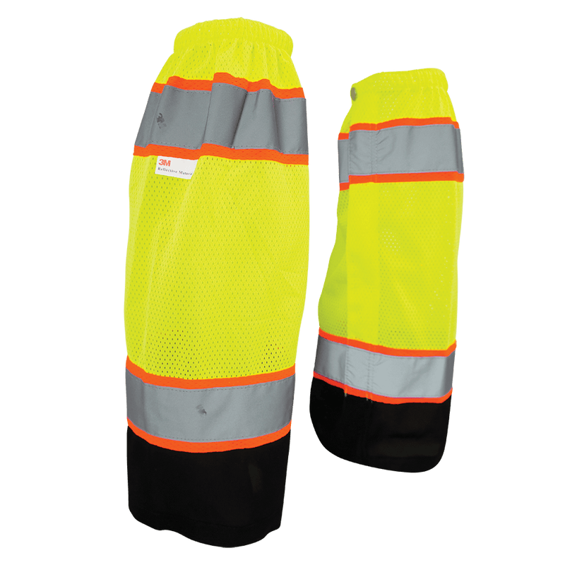 HV High-Visibility Mesh Polyester Gaiters - GLO-G1 (Case of 50 Pairs)