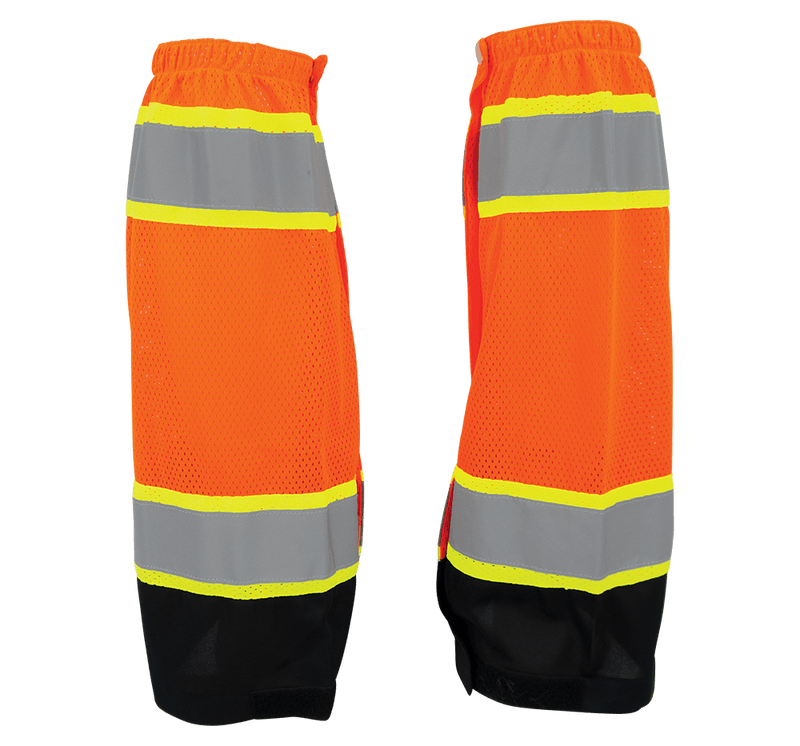 HV High-Visibility Mesh Gaiters - GLO-G2 (Case of 50 Pairs)