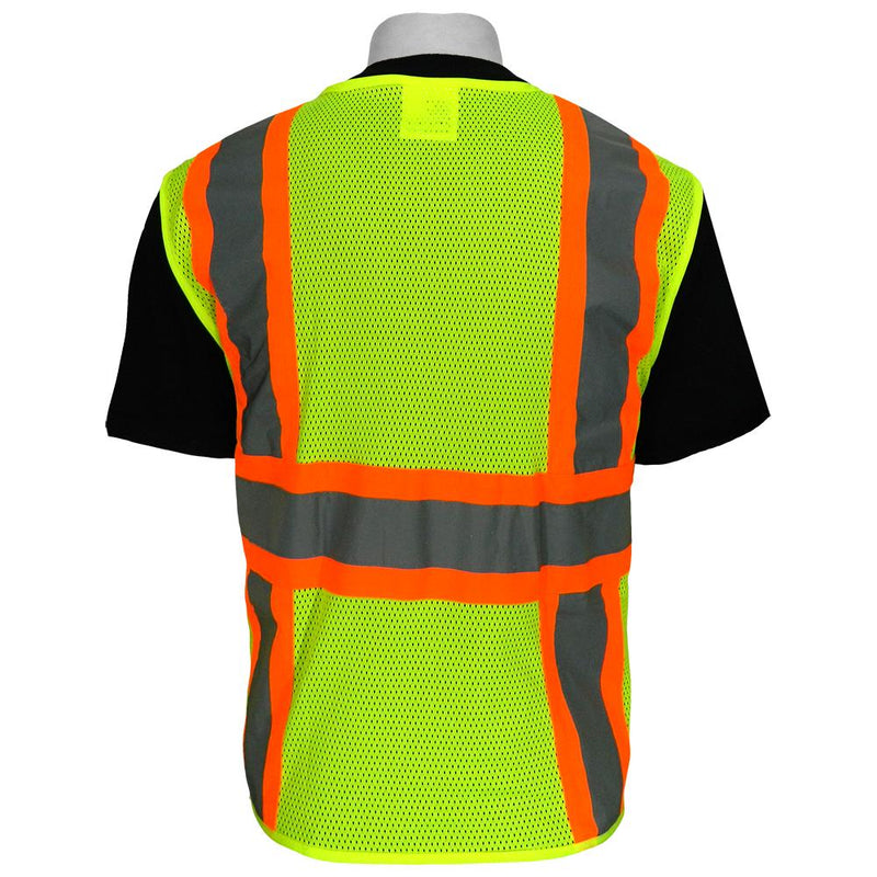 Global Glove GLO-003 HV Solid and Mesh Surveyors Vest (Case of 50)