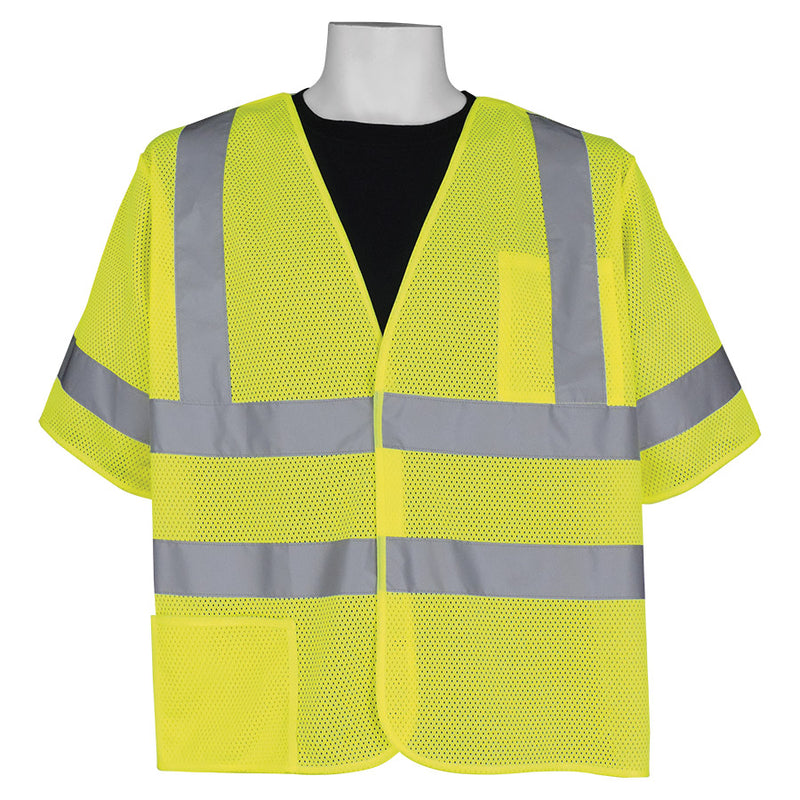 Global Glove GLO-011BA HV Lightweight Mesh Polyester Breakaway Vest (Case of 50)