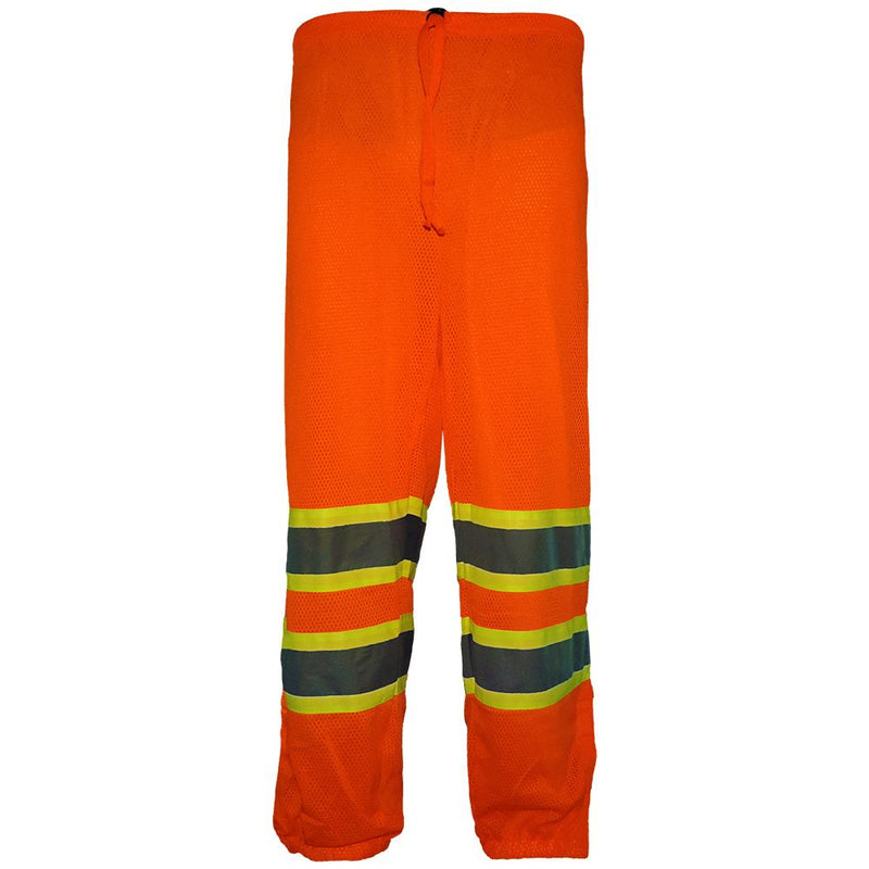 Global Glove GLO-4P HV High-Visibility Orange Mesh Safety Pants(Case of 50)