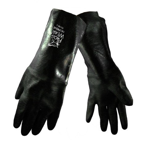 Global Glove 9914R Chemical Resistant Supported Neoprene, PVC and Nitrile Gloves - One Size (Case of 72 Pairs)