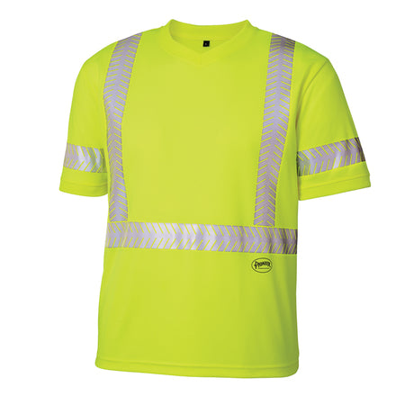 Pioneer V1052160U-S-4XL Birdseye Safety Cool Pass T-Shirt - Hi-Viz Green   (Case Of 25 Pcs)