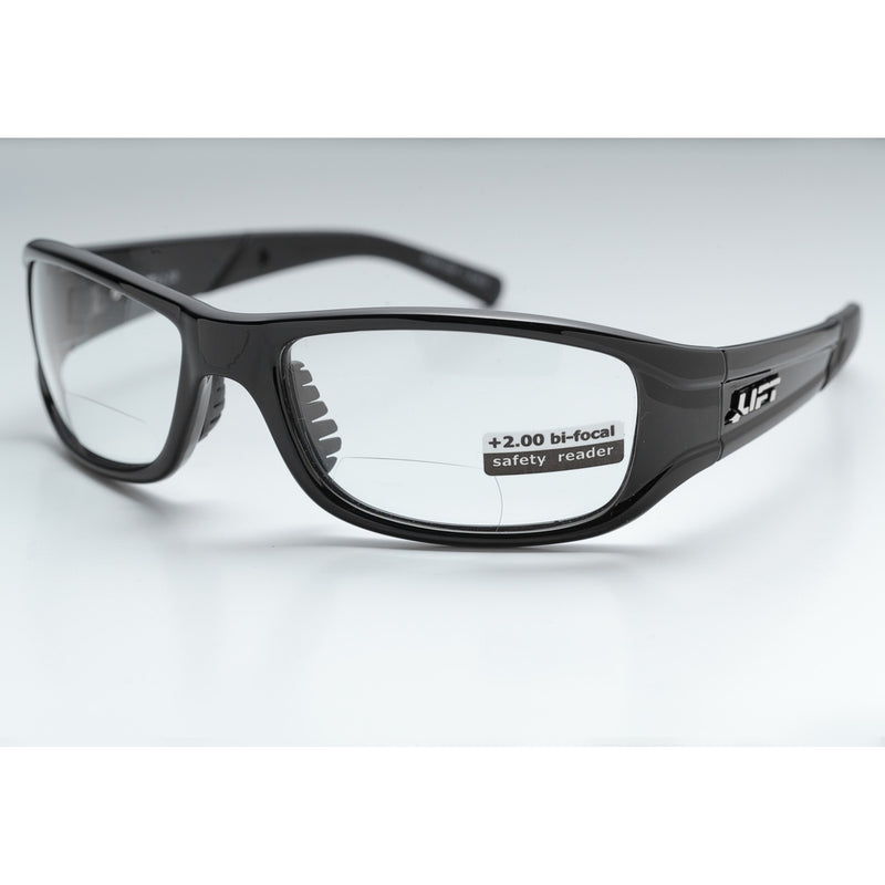 Lift Safety ESH-10KC20-SWITCH Safety Glasses (Black/Clear BiFocal 2.00)(Cases of 6 Packs)