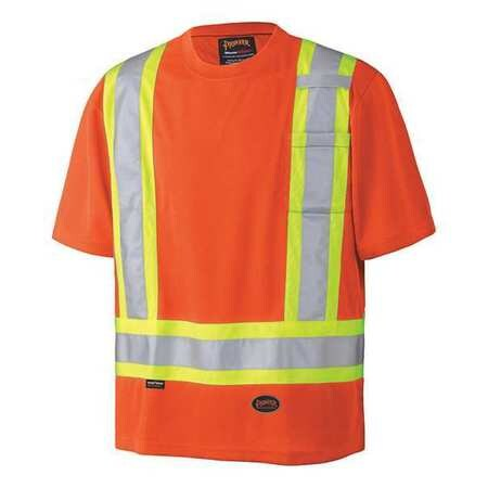 Pioneer V1051150U-S Hi-Viz Birdseye Short Sleeved Safety Shirt (Case Of 24 Pcs)