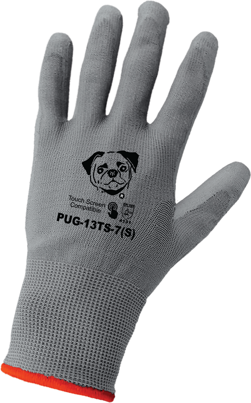 Global Glove PUG-13TS Polyurethane Coated Touch Screen Compatible Gloves - LIMITED STOCK  (12 Dozen Pair/Case)
