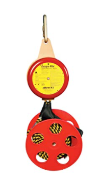 "Peakworks V85531-20 Compact, Lightweight, Bi-Directional, Easy to Use, 20' Poly-Steel, 3' per Second, Escape-Rite Emergency Controlled Descent System, 8""H x 18"" L x 10"" W"