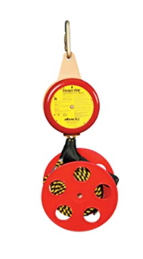 "Peakworks  V85532-160 Compact Lightweight, Bi-Directional, Easy to Use, Poly-Steel, 6' per Second, Escape-Rite Emergency Controlled Descent System, 8""H x 18"" L x 10"" W"