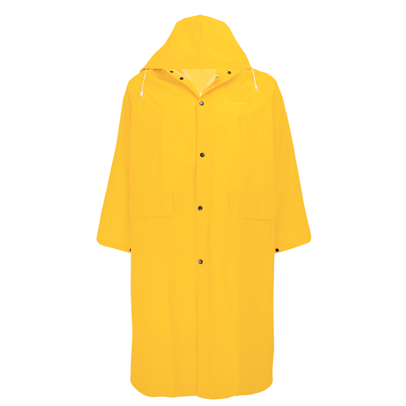 49-Inch Long PVC Raincoat - RCB89 (Case of 10)