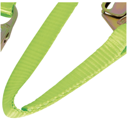 PeakWorks V815426 Fall Protection Restraint Lanyard with Webbing, Snap and Form Hooks, 6 ft. Length, Green(Case Of 5 Pcs)