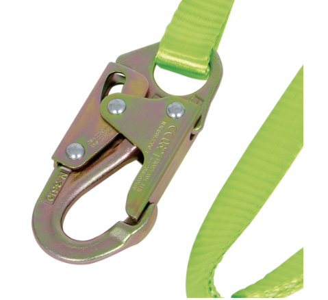 Restraint Lanyard with Webbing, Snap and Form Hooks, 4 Ft. L