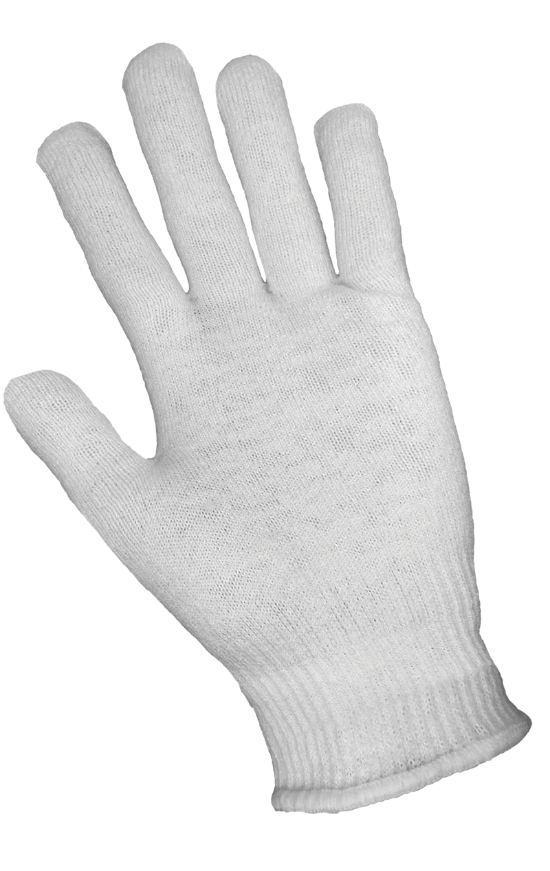 White Self-Wicking Hollow Core Thermal Gloves (Case of 144 Pairs)