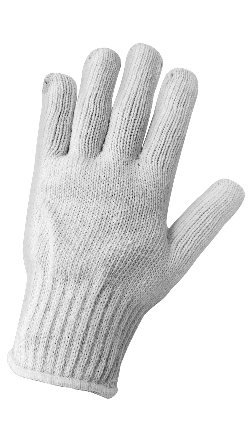 Bleached White String Knit Gloves - Unisex (Case of 300 Pairs)