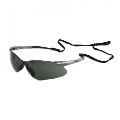 Safety Glasses with Gunmetal Frame & Indoor-Outdoor Mirror Lens (Case of 12 Pcs)