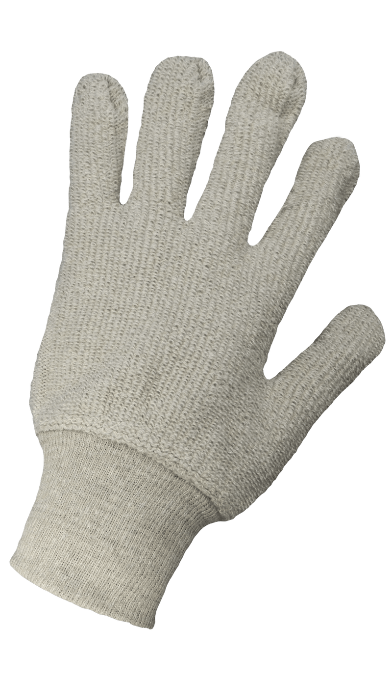 Global Glove T1350 Heavyweight Natural-Colored Terry Cloth Gloves (Pack of 12)