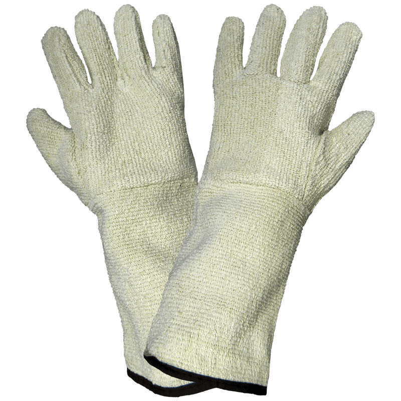 Global Glove T36 Heavyweight Terry Cloth Protected Forearm Gloves (Pack of 6)