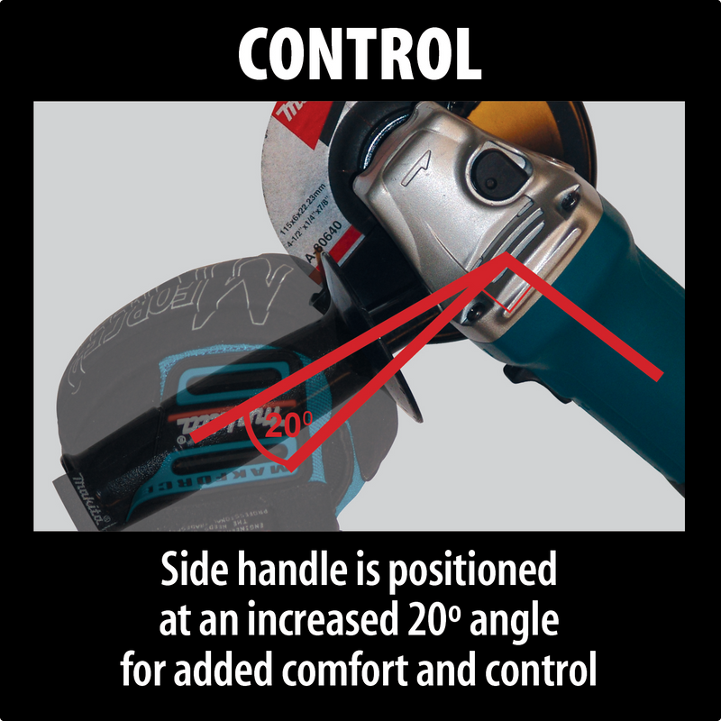 "Makita HR2641X1 1"" AVT® Rotary Hammer, accepts SDS‑PLUS bits (D‑handle) and 4‑1/2"" Angle Grinder"