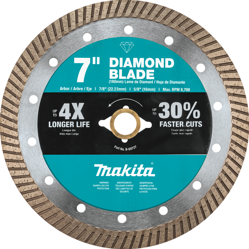 "Makita B-69727 7"" Diamond Blade, Turbo, General Purpose (Pack of 40)"