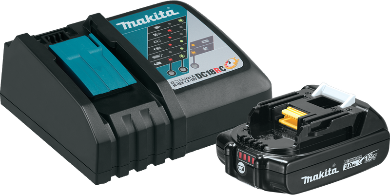 Makita BL1820BDC1 18V LXT® Lithium‑Ion Compact Battery and Rapid Charger Starter Pack (2.0Ah) (Pack of 5)