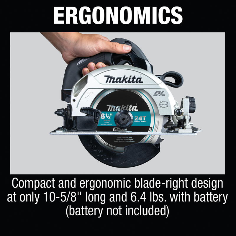 "18V LXT® Lithium‑Ion Sub‑Compact Brushless Cordless 6‑1/2"" Circular Saw, Tool Only (Pack of 2)"