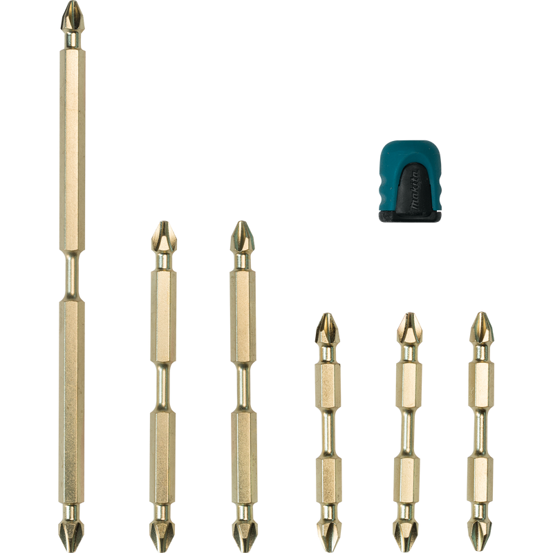 Makita B-44987 Impact GOLD® 7 Pc. Double‑Ended Power Bits with Mag Boost (Pack of 2)