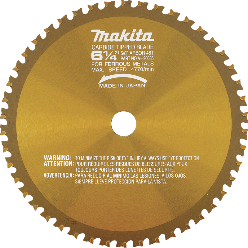 "Makita A-90685 6‑1/4"" 46T Carbide‑Tipped Saw Blade, Metal/General Purpose(Pack of 25)"