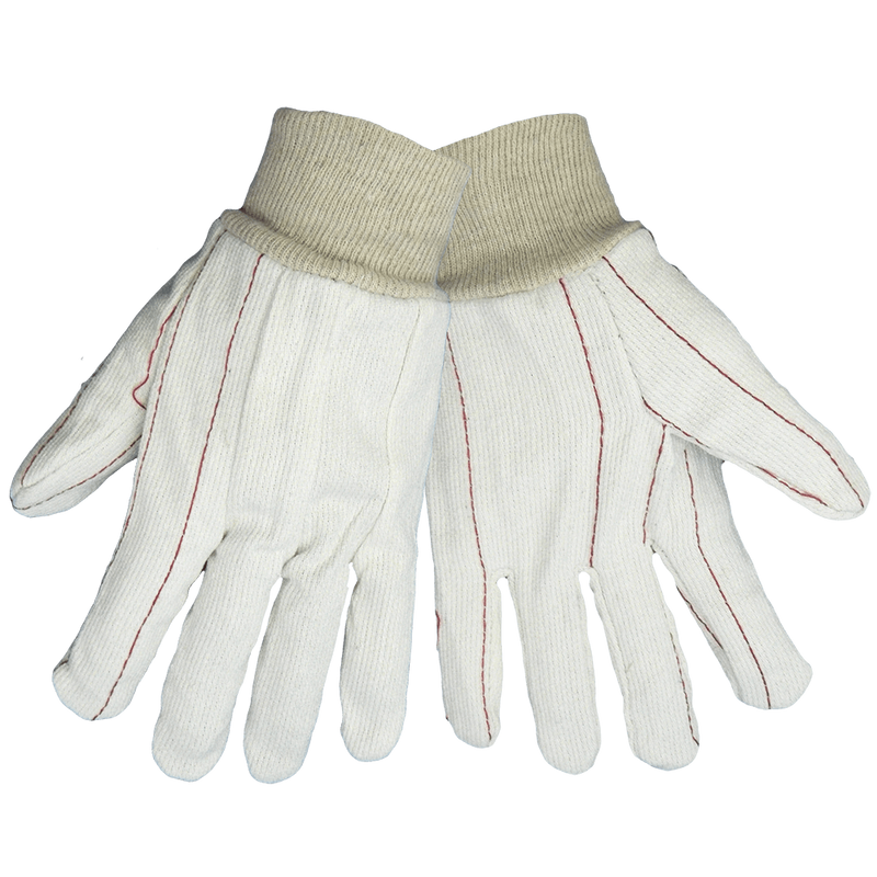 Bleached White Cotton Corded Gloves - C18C (Pack of 12)
