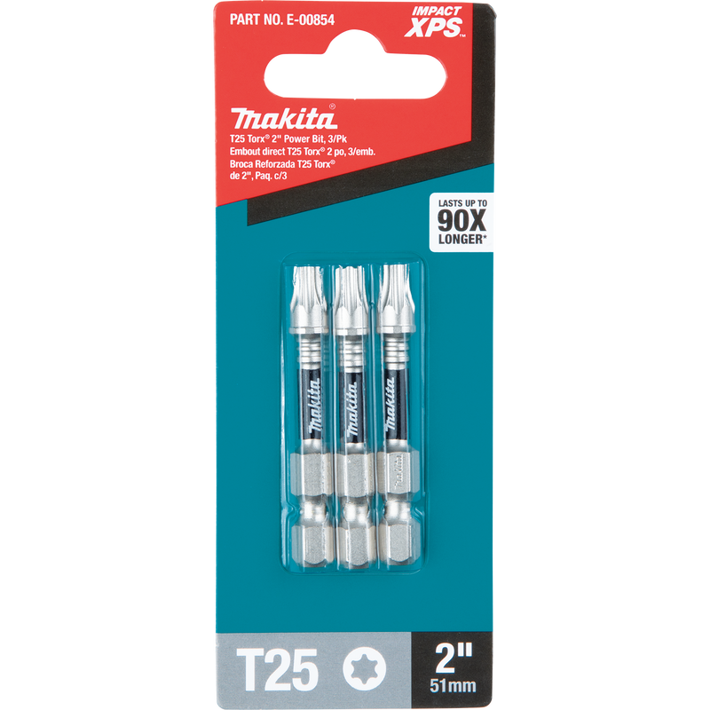 "Impact XPS® T25 Torx 2"" Power Bit, 3/pk (Pack of 100)"