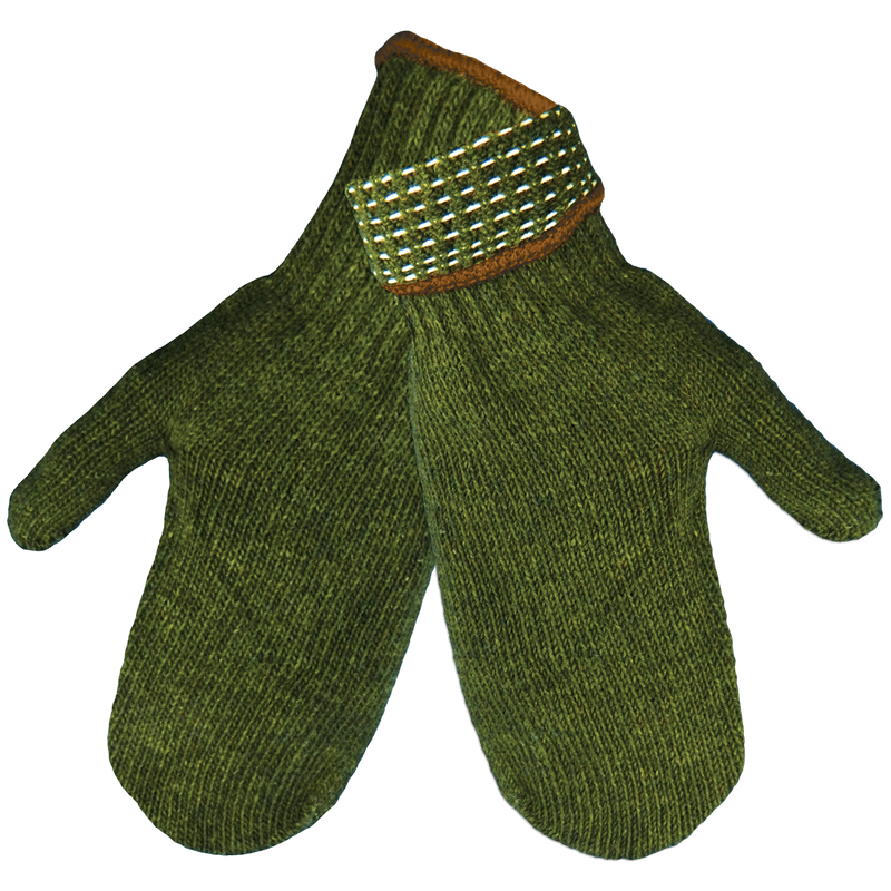 Global Glove S70RWMT Army Green Rag Wool Mittens (Case of 300 Pairs)
