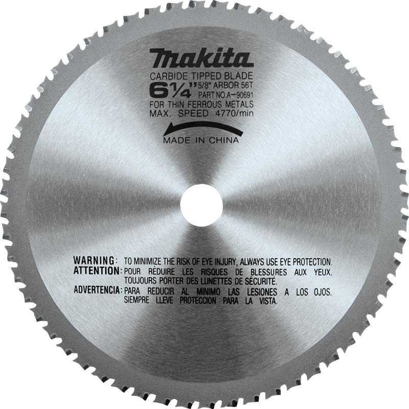 "Makita A-90691 6‑1/4"" 56T Carbide‑Tipped Saw Blade, Ferrous Metal, Thin Gauge(Pack of 20)"